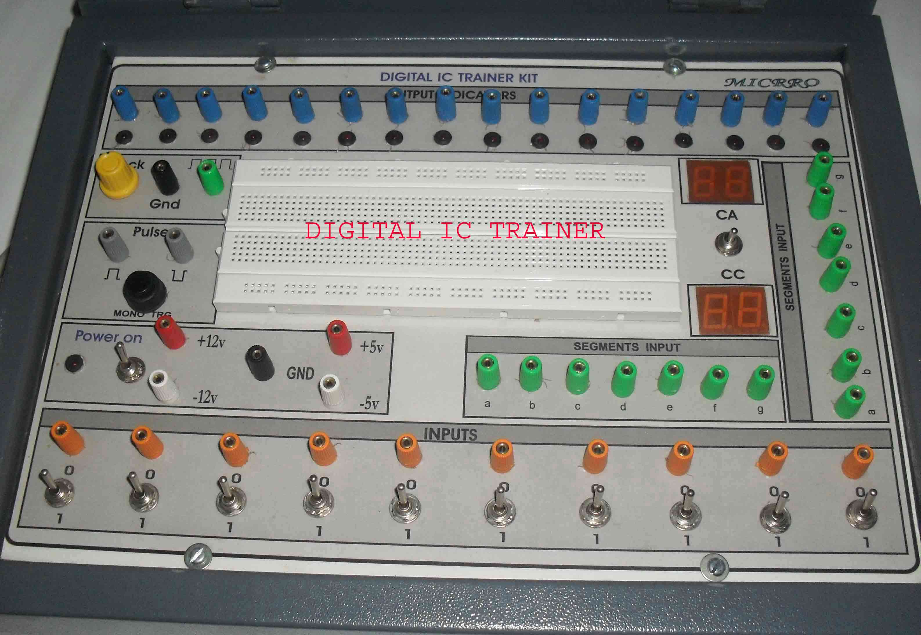 Anand Electronics Ic Trainer Digital Electronic Projects With Circuit